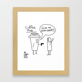 Coffee mug Framed Art Print