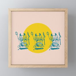 Tiki Dudes Framed Mini Art Print