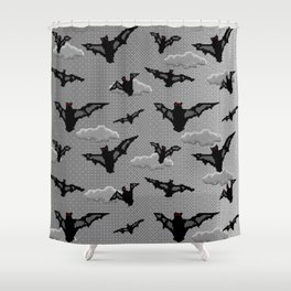 pixel bats Shower Curtain