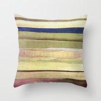 striped Throw Pillows featuring striped by Iris Lehnhardt
