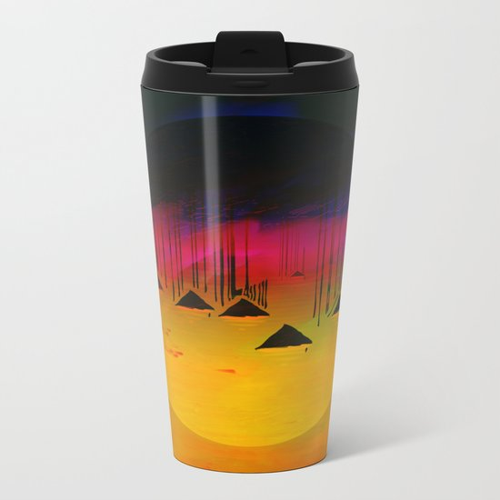 Pink Horizon / Archipelago 24-01-17 Metal Travel Mug