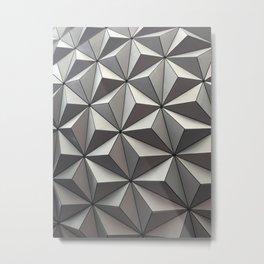 Geometric Patterns at EPCOT Metal Print