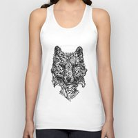 hunter Tank Tops featuring Hunter by René Campbell