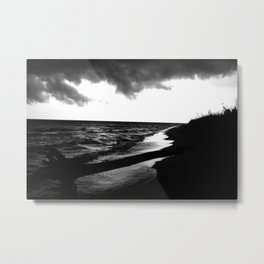Blackened Beachside Metal Print