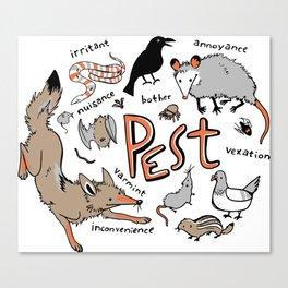 Pest Canvas Print