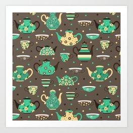 Tea pattern. Art Print