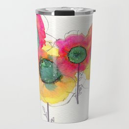 Galaxy Flowers Travel Mug