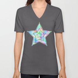 Rainbow Bubbles, Shining Stars and Color Magic Unisex V-Neck