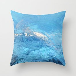 Blue Sky Abstract Throw Pillow