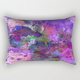Lilac Chaos - Abstract Rectangular Pillow