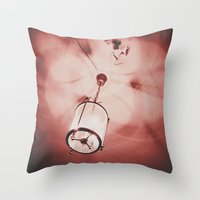 shadow Throw Pillows featuring shadow by Elsa Harley