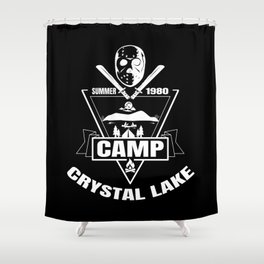 Camp Crystal Lake | Funny 80s Horror Movie Fan Shower Curtain