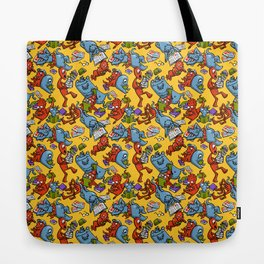Monsters reading Tote Bag