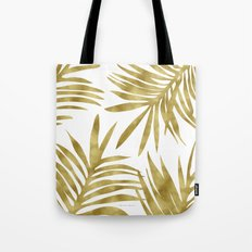 Gold Palm Tote Bag