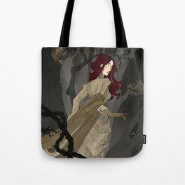 The Black Wood Tote Bag