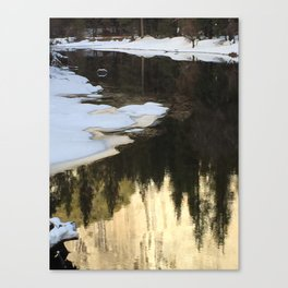 Color of Tu Tock Anula in the Merced River (Yosemite) Canvas Print