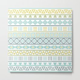 Aztec Influence Ptn Colorful Metal Print