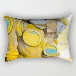 Yellow gas mask Rectangular Pillow
