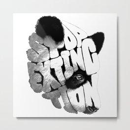 PANDA---FACE Metal Print