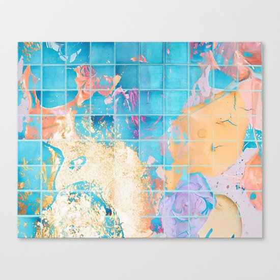 Mosaic Paint Spill V2 #society6 #decor #buyart Canvas Print