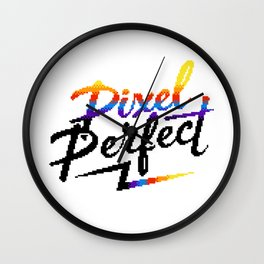 Pixel Perfect Wall Clock
