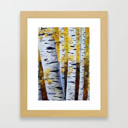 Birch Grove, acrylic painting, inspired by Belarus Framed Art Print