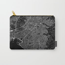 Athens Black Map Carry-All Pouch