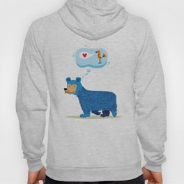 Bear Thinks Of Bird Hoody