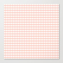 Geometrical modern abstract pink ivory scallope pattern Canvas Print