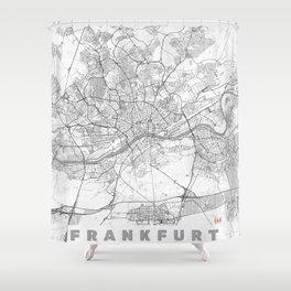 Frankfurt Map Line Shower Curtain