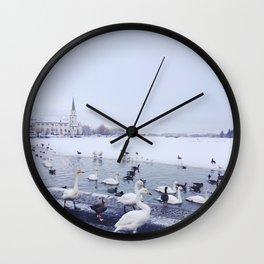 Reykjavik Duck Pond Wall Clock