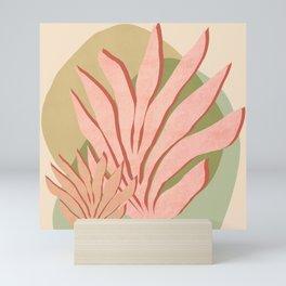 Sea grass - Shapes and Layers no.37 Mini Art Print