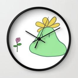 Lumpy Flower Spirit Wall Clock