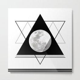 Uneven Geometry Metal Print