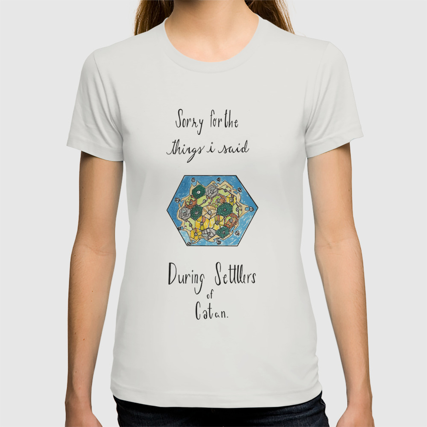 2e7d95e2 Sorry for the Things I Said During Settlers of Catan T-shirt by  paulinafricke | Society6
