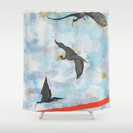 Ibises in Flight Shower Curtain