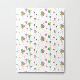 Balloon pattern design Metal Print