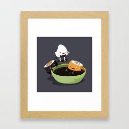 Sushi Bath Framed Art Print