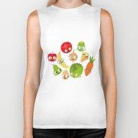 food Biker Tanks featuring Food by Peerro