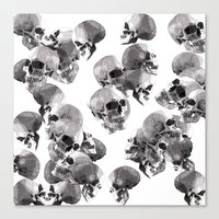 skulls Canvas Prints featuring Skulls by Rik Reimert
