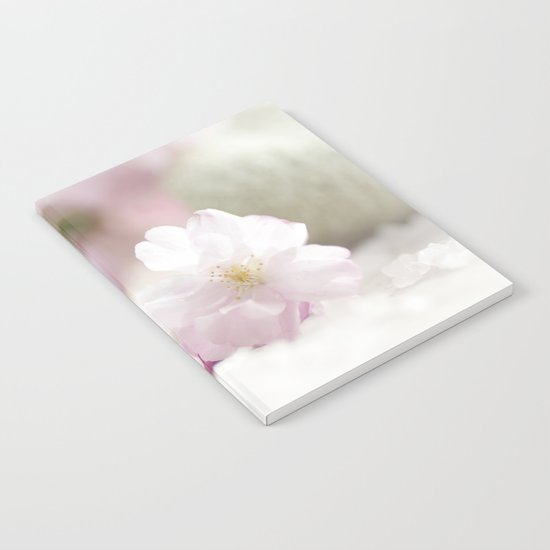 Delicate and fliligrane flowering of the almond tree Notebook