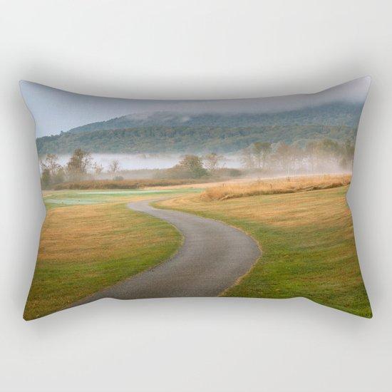 Misty Dawn Golf Course Rectangular Pillow