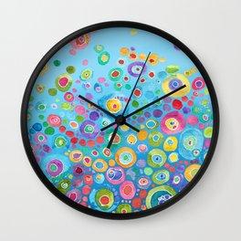Inner Circle - Blue Wall Clock