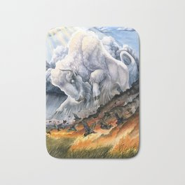 White Buffalo Bath Mat