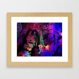 IDYLLIC FAIRYLAND // Reed Flute Cave, Guilin Framed Art Print
