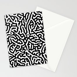 Squiggle Lines Black and White Pattern Stationery Cards
