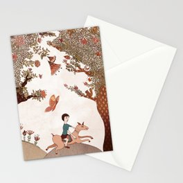 magical forest boy Stationery Cards