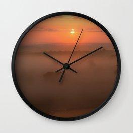 Mornings Embrace Wall Clock