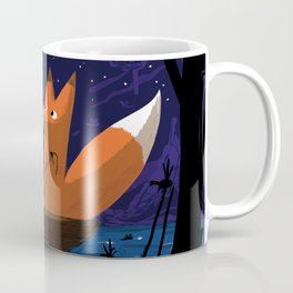 Fox & Duck Looking For Dragonflies Coffee Mug