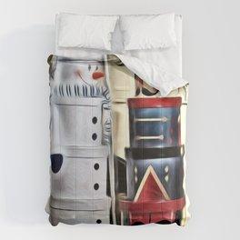 Snowman and Nutcracker Dialog Comforters
